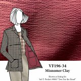 VF196-34 Misnomer Clay - Brick Red Cotton Seersucker Fabric