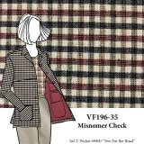 VF196-35 Misnomer Check - Clay-Cream-Black Cross-Woven Wool Novelty Jacket Fabric