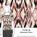 VF196-36 Misnomer Waves - Abstract Print SofTouch Polyester Peachskin Fabric