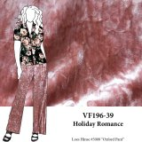 VF196-39 Holiday Romance - Rose Gold Crushed Stretch Velvet Fabric
