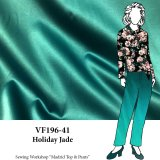 VF196-41 Holiday Jade - Stretch-Woven Low-Luster Satin Fabric