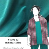 VF196-43 Holiday Mallard - Dark Teal Polyester Peachskin Fabric
