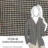 VF196-46 Fashion Houndstooth - Black and Sand Novelty Wool Fabric