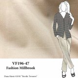 VF196-47 Fashion Millbrook - Sand Stretch Cotton Twill Fabric
