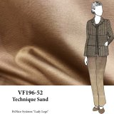 VF196-52 Technique Sand - Warm Tan Viscose Blend Ponte di Roma Stable Double-knit Fabric