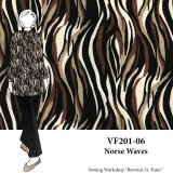 VF201-06 Norse Waves - Polyester Crepe de Chine Print Fabric