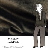 VF201-07 Edda Plush - Dark Brown Stretch Cotton Velveteen Fabric