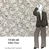 VF201-08 Edda Vines - Loosely Woven Printed Wool Blend Fabric