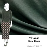 VF201-17 Rune Thyme - Drab Green Cotton T-shirt Knit Fabric
