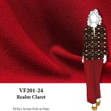 VF201-24 Realm Claret - Polyester Dressweight Double Crepe Fabric