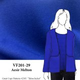 VF201-29 Aesir Melton - Dark Royal Blue Wool Coating Fabric