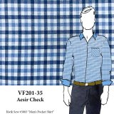 VF201-35 Aesir Check - Stretch Cotton Check Shirting Fabric