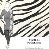 VF201-44 Parallel Zebra - Strikingly Large Silk Double Georgette Print Fabric