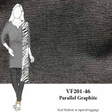 VF201-46 Parallel Graphite - Firm Dark Grey Ponte di Roma Double Knit Fabric