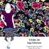 VF201-50 Saga Solarium - Colorful Kaleidoscopic Floral Rayon Challis Print Fabric