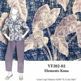 VF202-02 Elements Kona - Designer Combed Cotton Shirting Fabric