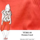 VF202-10 Permies Coral - Medium Weight Stretch Rayon-Linen Blend Fabric