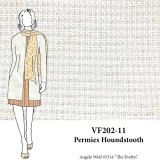 VF202-11 Permies Houndstooth - Off-White Novelty Yarn-Woven Cotton Fabric