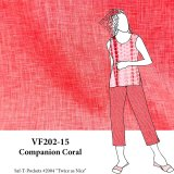 VF202-15 Companion Coral - Lightweight Spring Linen Fabric