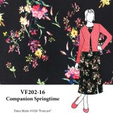 VF202-16 Companion Springtime - Soft and Fluid Blouseweight Floral Print Fabric