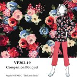 VF202-19 Companion Bouquet - Floral Rayon Challis Print Fabric