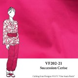 VF202-21 Succession Cerise - Dark Pink Stretch Cotton Shirting Fabric