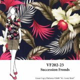 VF202-23 Succession Fronds - Large Palm Leaf Printed Cotton Fabric