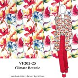 VF202-25 Climate Botanic - Bright Bloom Sateen Stretch Cotton Print Fabric from Telio