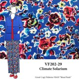 VF202-29 Climate Solarium - Colorful Kaleidoscopic Floral Rayon Challis Print Fabric