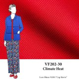VF202-30 Climate Heat - Red Reverisble Polyester Novelty Suiting Fabric