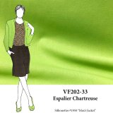 VF202-33 Espalier Chartreuse - Medium Weight Rayon-Linen Blend Fabric