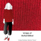 VF202-37 Herbal Ribbed - Heather Claret Ribbed Knit Fabric from Telio