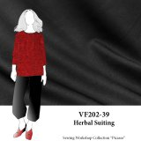 VF202-39 Herbal Suiting - Black Astaire Lightweight Stretch-woven Suiting from Telio