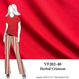 VF202-40 Herbal Crimson - Dark Rich Red Bamboo Jersey Knit Fabric