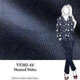 VF202-44 Themed Wales - Navy Pinwale Cotton Corduroy Fabric