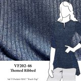 VF202-46 Themed Ribbed - Heather Peri-Blue Ribbed Knit Fabric from Telio