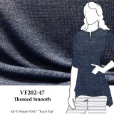 VF202-47 Themed Smooth - Heather Peri-Blue Sweater Knit Fabric from Telio