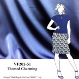 VF202-51 Themed Charming - Fluid Medium-weight Dull Luster Royal Blue Stretch-woven Polyester Charmeuse Fabric