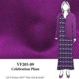 VF205-09 Celebration Plum - Reversible Polyester Novelty Fabric