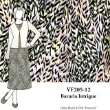 VF205-12 Bavaria Intrigue - Abstract Polyester Blouseweight SofTouch Print Fabric