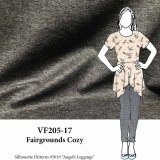 VF205-17 Fairgrounds Cozy - Heathered Grey Rayon Double-Jersey Knit Fabric