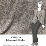 VF205-20 Fairgrounds Heather - Soft Blush and Grey Flecked Super Soft Rayon Blend Sweater Knit Fabric
