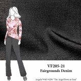 VF205-21 Fairgrounds Denim - Soft and Lightweight Supple Cotton Twill in Muted Grey Fabric