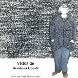 VF205-26 Brauhaus Comfy - Wedgewood-Blue with Winter White Yarn Textured Sweater Knit Fabric