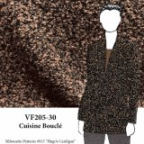 VF205-30 Cuisine Bouclé - Brown and Black Textured Thick Sweater Knit Fabric
