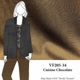 VF205-34 Cuisine Chocolate - Milk Chocolate Wool and Rayon Blend Crepe Suiting Fabric