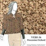 VF205-36 Procession Orchard - Autumnal Printed Cotton Twill Fabric