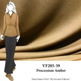 VF205-39 Procession Amber - Golden Rayon Matte Jersey Knit Fabric