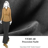 VF205-40 Procession Nacht - Rich Black Dressweight Stretch-Woven Fabric