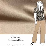 VF205-42 Procession Crepe - Warm Beige Polyester and Rayon Blend Stretch-Woven Suiting Fabric
